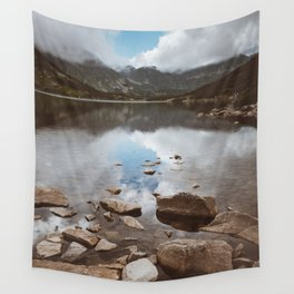 Mountain Lake - Landscape and Nature Photography Wall Tapestry