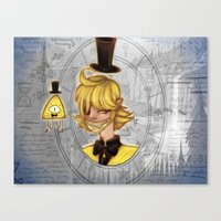 bill cipher Canvas Prints featuring Bill Cipher by InsianCat