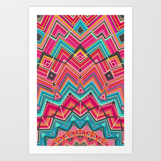 picchu pink Art Print