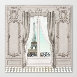Eiffel Tower room with a view Canvas Print