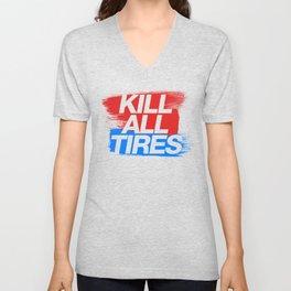 Kill All Tires v3 HQvector Unisex V-Neck