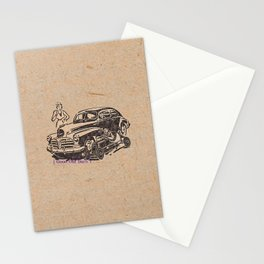 car racing Stationery Cards