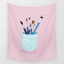 Paintbrushes in a Tea Cup Wall Tapestry