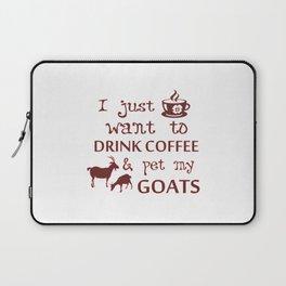 Coffee & Goats Laptop Sleeve