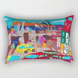 Sunset City Rectangular Pillow