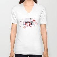 nintendo V-neck T-shirts featuring Nintendo Dentata by scoobtoobins