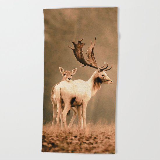 Deer 3 Beach Towel