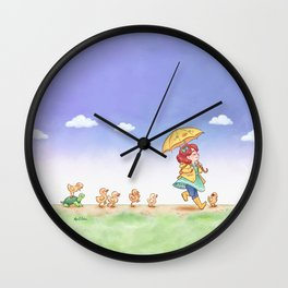 Duckling March Wall Clock