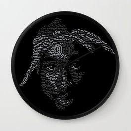Tupac Calligraphy Wall Clock