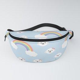 Cute Maltese Rainbow Pattern Fanny Pack