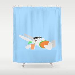 Sun Bun Beached Shower Curtain