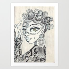 Lace and Knots Art Print
