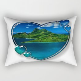 I Love Bora Bora 2 Rectangular Pillow
