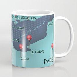English Channel Nautical Map Coffee Mug