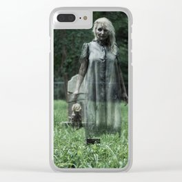 """VAMPLIFIED """"Haunted Cemetery"""" Clear iPhone Case"""
