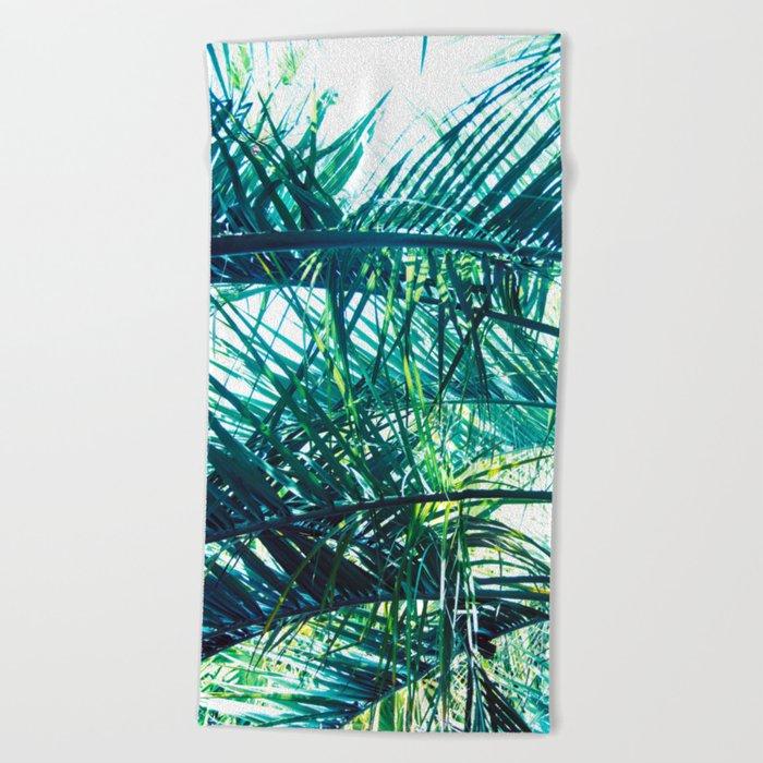 Bright Palm 3 Beach Towel