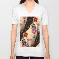blossom V-neck T-shirts featuring Blossom by Sartoris ART