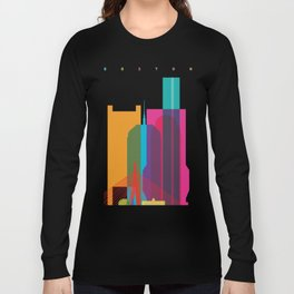 Shapes of Boston. Accurate to scale Long Sleeve T-shirt