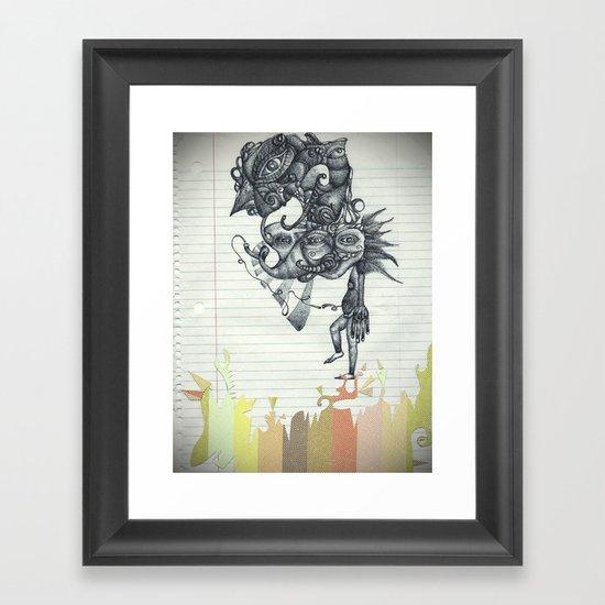 Hombre Simple Framed Art Print