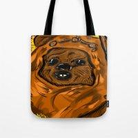 ewok Tote Bags featuring Ewok by Art of Fernie
