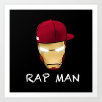 rap Art Prints featuring Rap man by Tony Vazquez