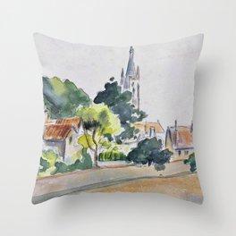 Camille Pissarro - All Saints' Church, Beulah Hill - Digital Remastered Edition Throw Pillow