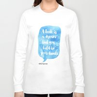 neil gaiman Long Sleeve T-shirts featuring Neil Gaiman, quotes, Sky color by Good vibes and coffee