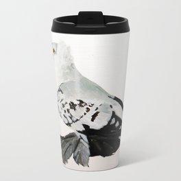 Pigeon Portrait - Fairy Swallow Metal Travel Mug