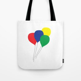 Primary Colour Balloons Tote Bag