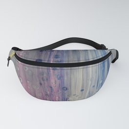 Rainbow Rain - Abstract Acrylic Art by Fluid Nature Fanny Pack