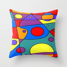 Abstract #71 Solar System Throw Pillow