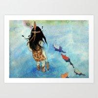 safari Art Prints featuring Safari by Zoï-Zoï