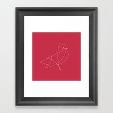 Contours: Cardinal (Line) Framed Art Print