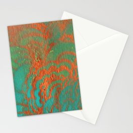 Drawing Meditation: Stencil 1 - Print 10 (orange) Stationery Cards