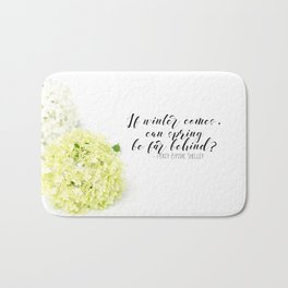 Hope for Spring in the Winter Bath Mat