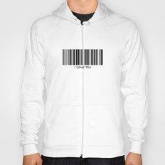 I Love You Barcode White Hoody