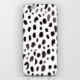 Dalmation Spots Painted Watercolor Pattern iPhone Skin