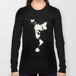 Dymaxion Map of the World Long Sleeve T-shirt
