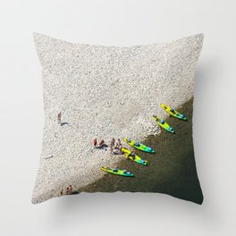 Five Canoes Throw Pillow