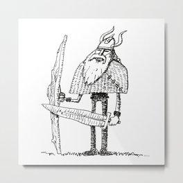 Skinny Jeans Viking Metal Print