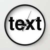 text Wall Clocks featuring text by linguistic94