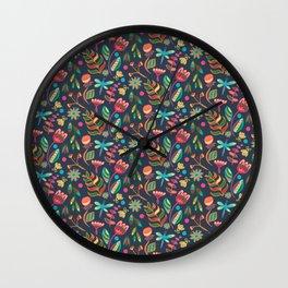 Flower Fantasy Wall Clock