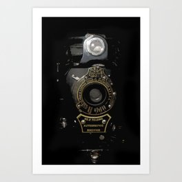 VINTAGE AUTOGRAPHIC BROWNIE FOLDING CAMERA Art Print