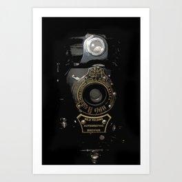 VINTAGE AUTOGRAPHIC BROWNIE FOLDING CAMERA Art Print