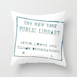 New York Public Library stamp Throw Pillow