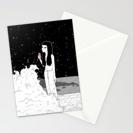 The waves licked. Stationery Cards