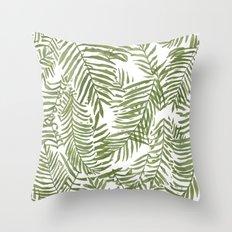 Areca Palm Pattern Throw Pillow
