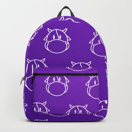 Abstract Colorful Background with Cow - Poster - Paper Backpack