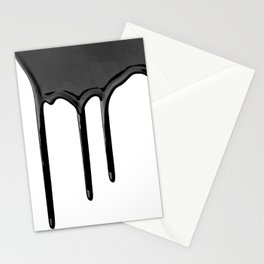 Black paint drip Stationery Cards