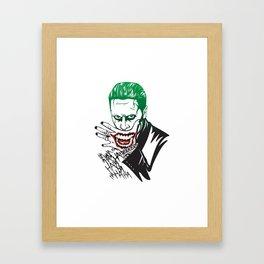 Joker_Jared Leto_Suicide Squad Framed Art Print